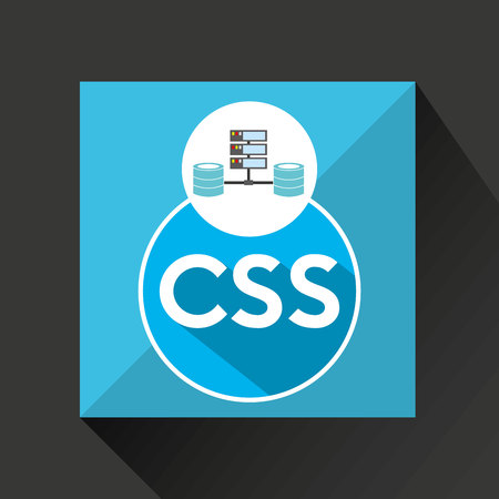 css: css language data base storage vector illustration Illustration