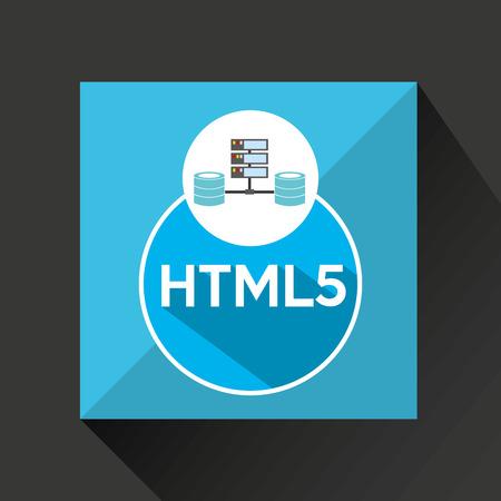 meta data: html5 language data base storage vector illustration Illustration