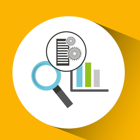 database setting statistical optimized icon vector illustration