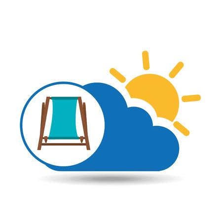 summer vacation design beach chair icon vector illustration Illustration
