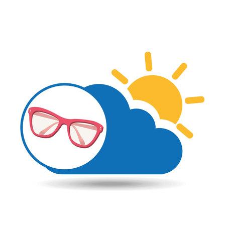 summer vacation design sunglasses fashion icon vector illustration