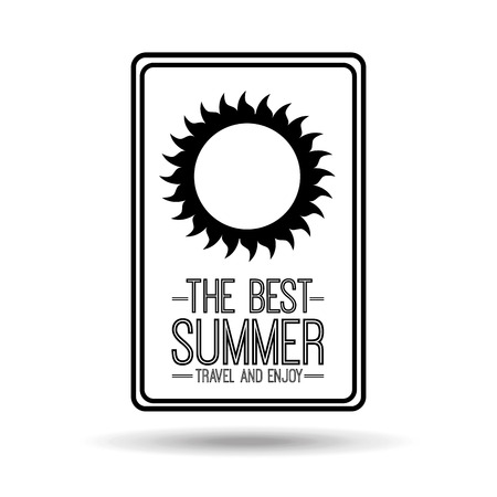 enjoy: sunny card best summer travel and enjoy vector illustration Illustration
