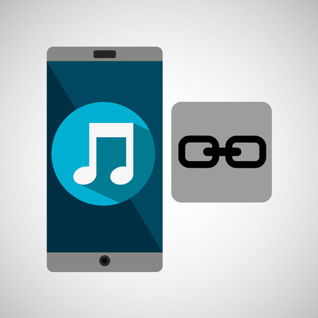 ios: smartphone music online link vector illustration eps 10