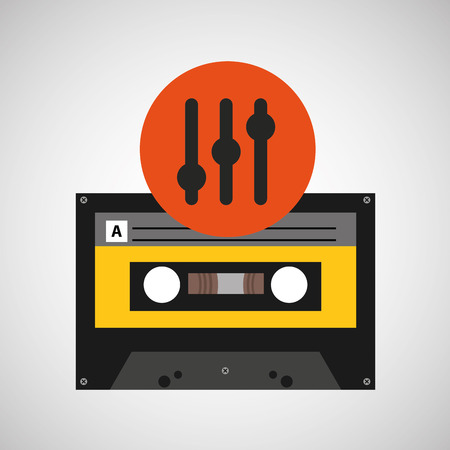 frequency: frequency music cassette tape vector illustration eps 10