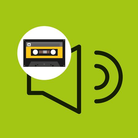 volume music cassette tape vector illustration eps 10 Illustration
