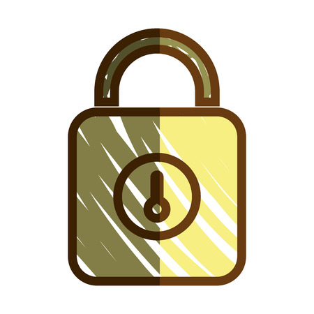 safe padlock security isolated icon vector illustration design