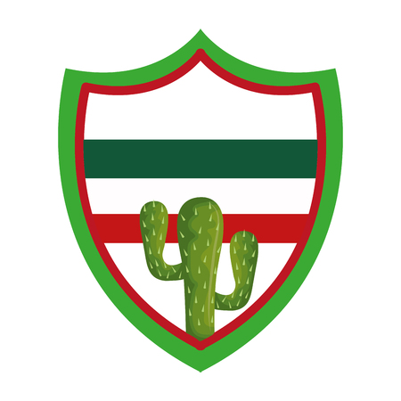 cactus desert plant icon over white background, vector illustration