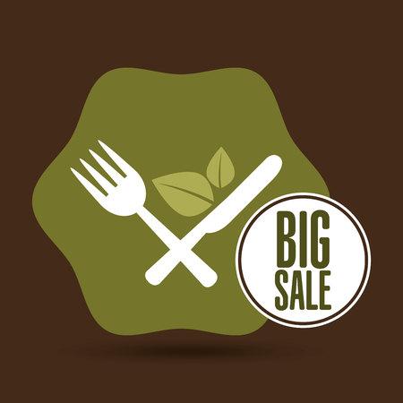 vegan food: big sale restaurant vegan food healthy vector illustration eps 10 Illustration