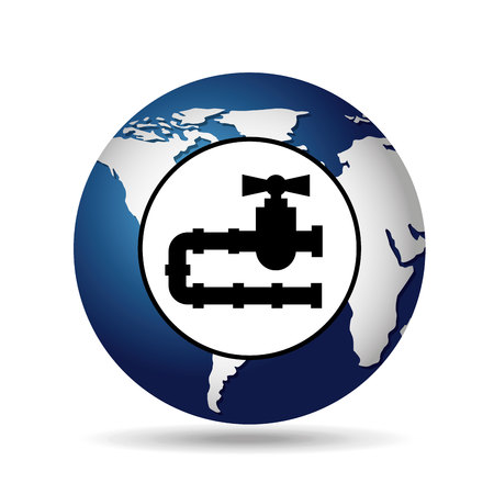 consumption: world oil industry consumption gas pipeline vector illustration eps 10
