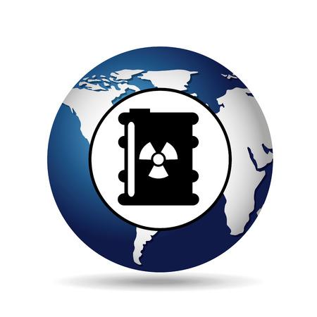 world oil industry consumption nuclear barrel vector illustration eps 10 Illustration