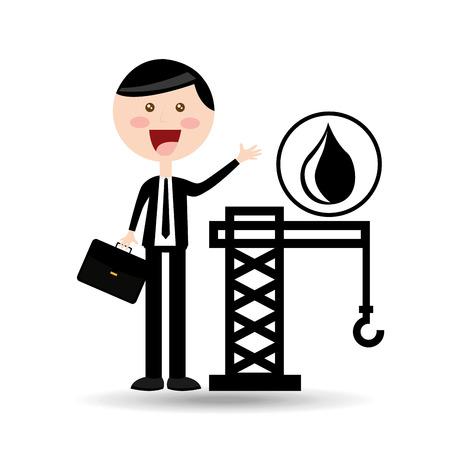 distillery: businessman oil concept tower petroleum vector illustration eps 10 Illustration
