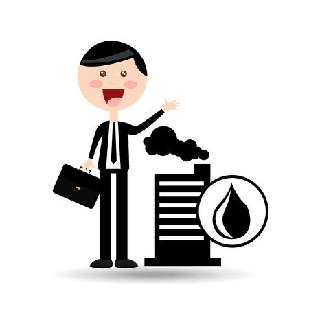 businessman oil concept industry building vector illustration eps 10
