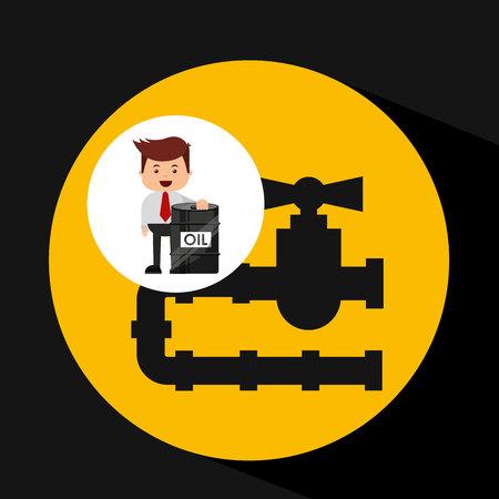 businessman oil industry oil pipe line vector illustration eps 10