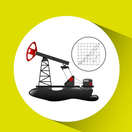 oil well industry growth diagram background vector illustration eps 10