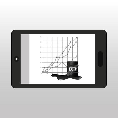 business oil smartphone economic graph vector illustration eps 10