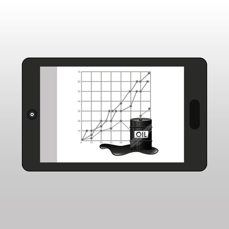 l'huile d'affaires intelligent graphique économique illustration vectorielle eps 10