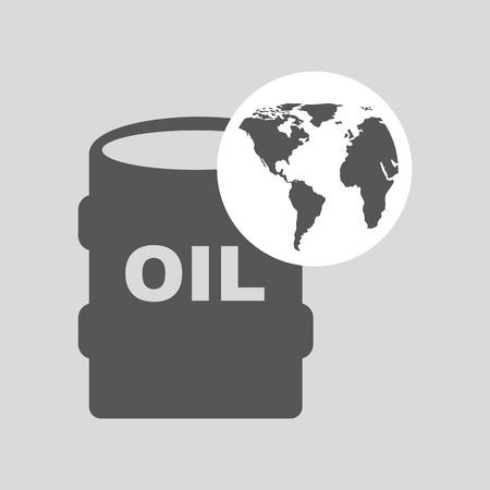 electricity export: world oil industry consumption oil barrel vector illustration eps 10 Illustration
