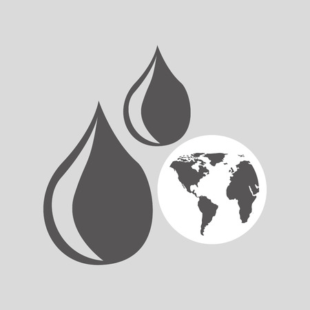 electricity export: world oil industry consumption vector illustration eps 10