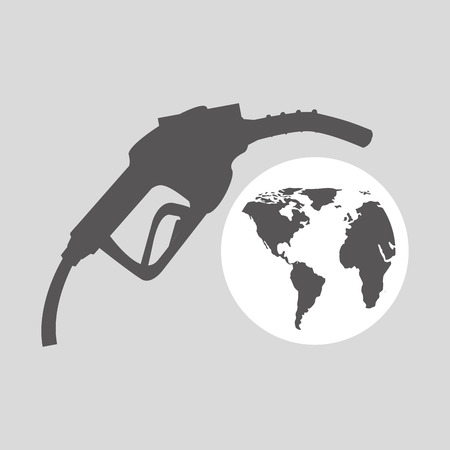 petrol pump: world oil industry station gasoline vector illustration eps 10 Illustration