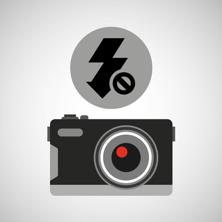 auto focus: retro camera photographic no flash vector illustration eps 10 Illustration