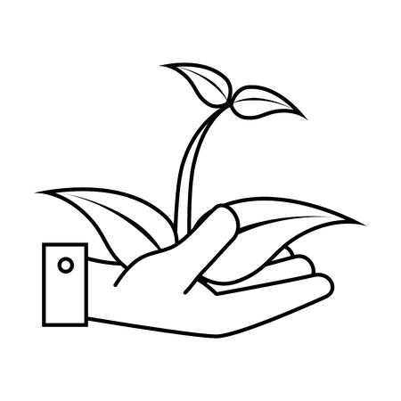 plant tree: tree plant silhouette icon vector illustration design