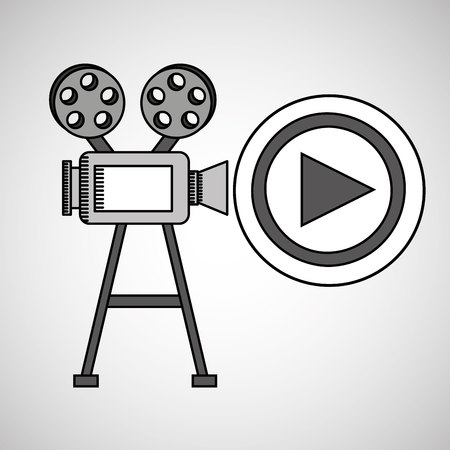 camera film vintage with movie play vector illustration eps 10