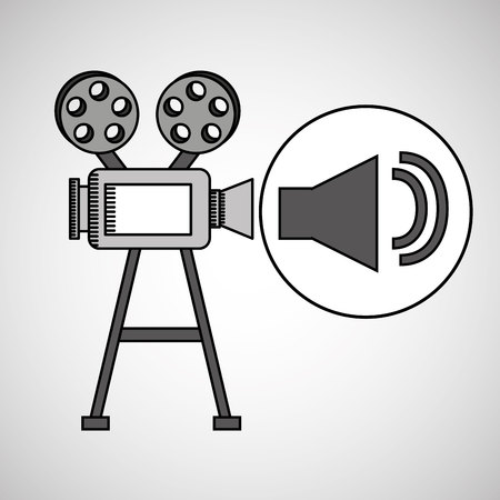 camera film vintage with movie volume icon vector illustration eps 10