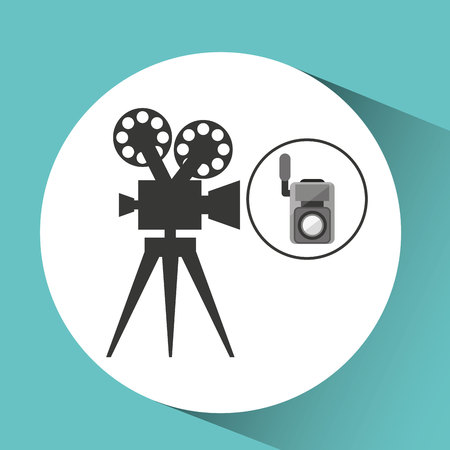 movie video camera film retro vector illustration eps 10