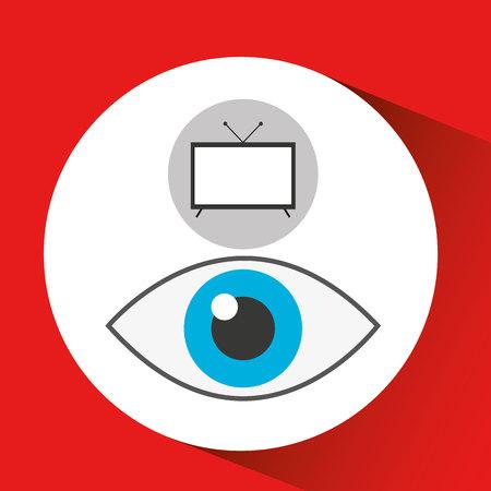 screen tv movie watching vector illustration eps 10 Illustration