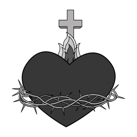 immaculate: sacred Heart of Jesus vector illustration design