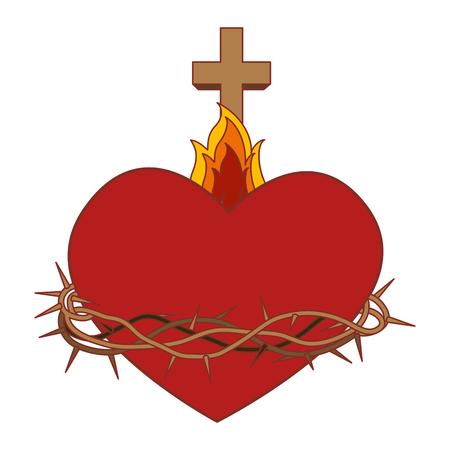 Coeur sacré de conception vecteur Jésus illustration