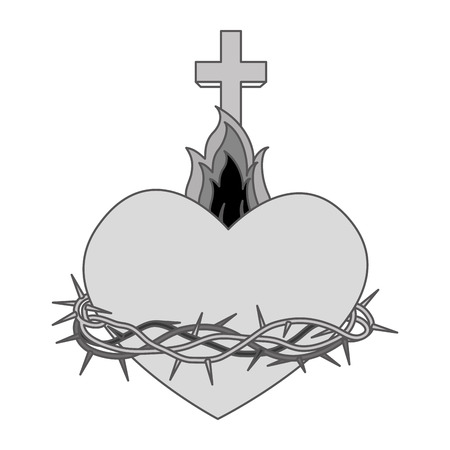 sacred heart: sacred Heart of Jesus vector illustration design