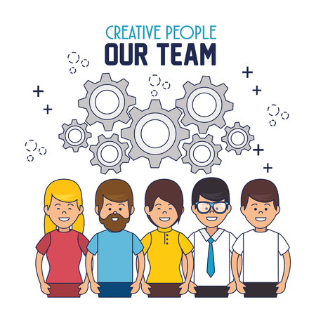 our company: creative people our team vector illustration design Illustration