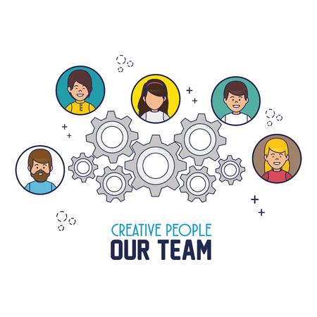occupation: creative people our team vector illustration design Illustration