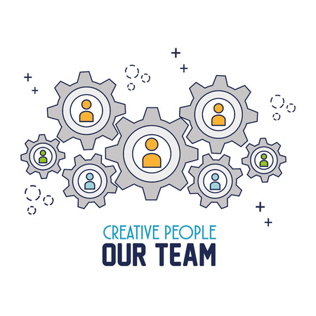 our: creative people our team vector illustration design Illustration