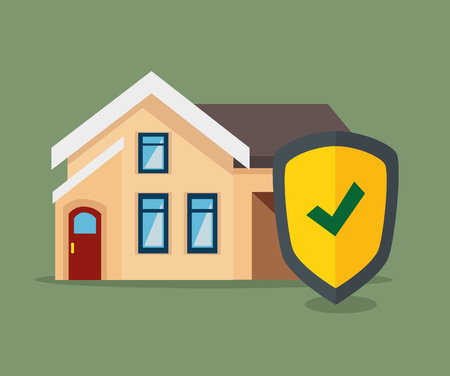 house insurance service isolated icon vector illustration design