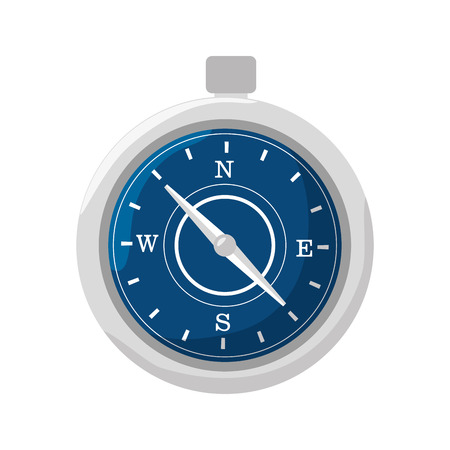 direction magnet: compass travel device isolated icon vector illustration design