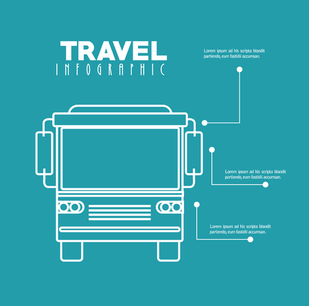 the view option: bus travel infographic icon vector illustration design