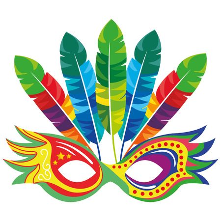 mask carnival celebration icon vector illustration design