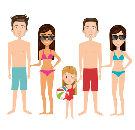 swimwear: person charcter with Swimwear vector illustration design