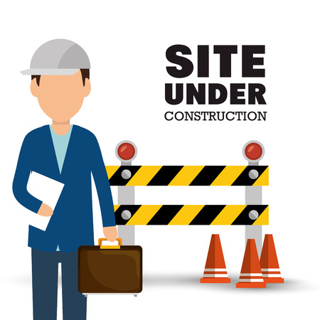 under construction icon: site under construction icon vector illustration design