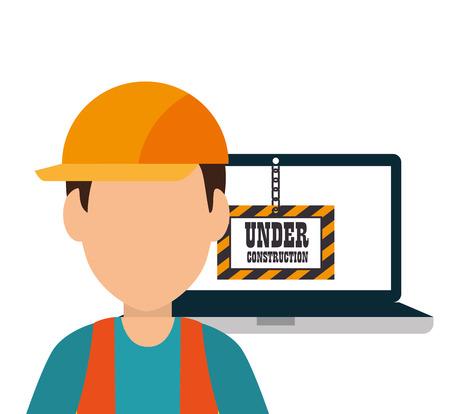 site under construction icon vector illustration design