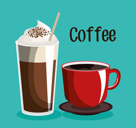 nutriments: delicious coffee shop products vector illustration design Illustration