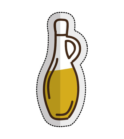 mediterranean diet: olive oil bottle isolated icon vector illustration design