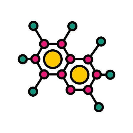 Estructura de la molécula aislada icono de ilustración vectorial de diseño Ilustración de vector