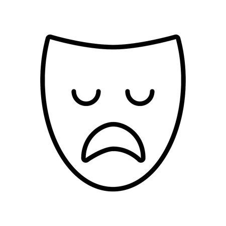 theater mask classic icon vector illustration design Illustration