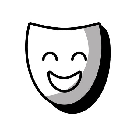 theater mask classic icon vector illustration design Illustration