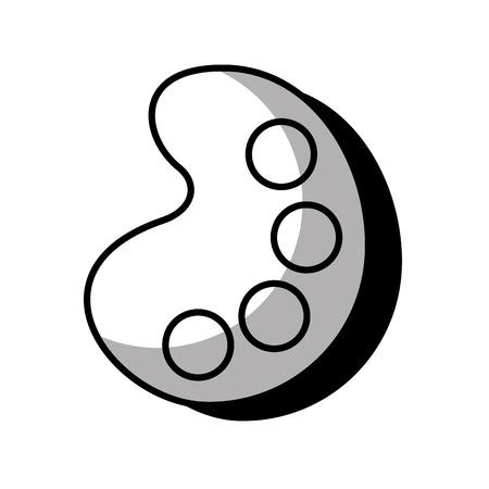 pallete paint isolated icon vector illustration design Illustration