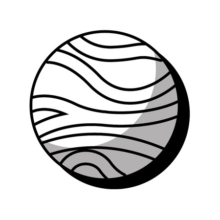 venus: venus planet isolated icon vector illustration design