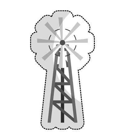 Windmühle Bauernhof isoliert Symbol Vektor-Illustration , Design ,
